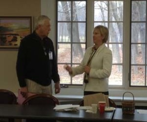 Gary Alger, Immediate Past President, with Rebecca Harris, current Chapter President